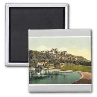 The castle from the park, Dover, England rare Phot Fridge Magnet