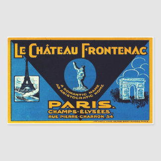 The Castle Frontenac (Paris - France) Rectangular Sticker