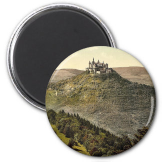 The castle, Hohenzollern, Germany rare Photochrom 6 Cm Round Magnet