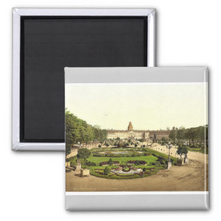 The Castle, Karlsruhe, Baden, Germany rare Photoch Square Magnet