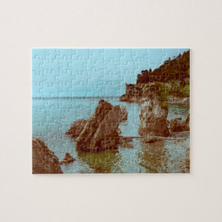 The castle on the sea and the rocks jigsaw puzzle