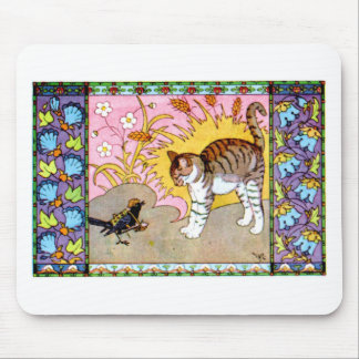 The Cat and the Crow Artwork Mouse Pad