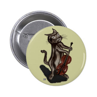 The Cat and the Fiddle Pinback Button
