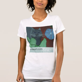 The Cat And The Morning Glory Shirt by Julia Hanna