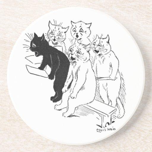 The Cat Chorus Drink Coasters