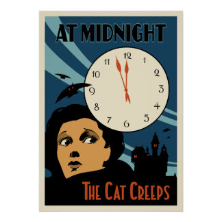 """The Cat Creeps"" Vintage Movie poster"