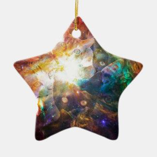 The Cat Galaxy Ceramic Star Decoration