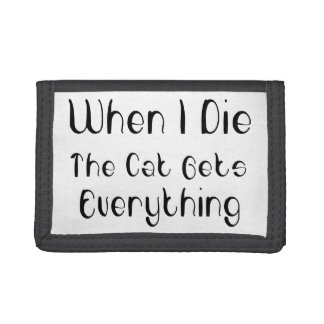 The Cat Gets Everything Trifold Wallet