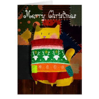 The Cat in the Ugly Sweater Card