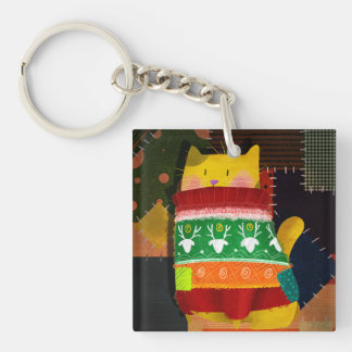The Cat in the Ugly Sweater Key Ring