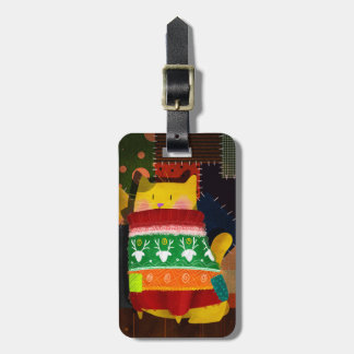The Cat in the Ugly Sweater Luggage Tag
