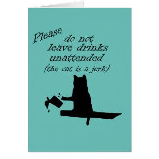 The Cat is a Jerk Card