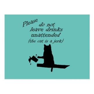 The Cat is a Jerk Postcard