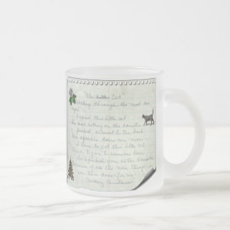 The Cat Frosted Glass Mug