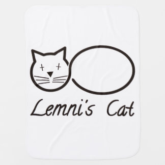 The cat of Lemni Lemniscate Pram blanket