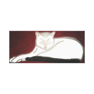 The Cat on Canvas Canvas Print