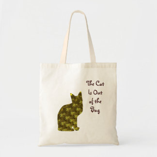 The 'Cat Out of the Bag' Small Tote Budget Tote Bag