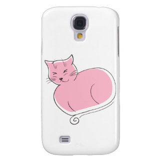 The Cat - Pink Galaxy S4 Cases