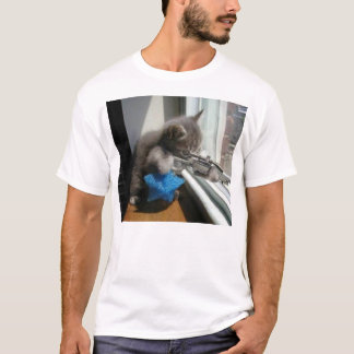 The cat sniper T-Shirt