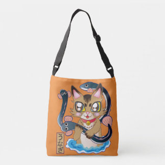 The cat ♪-Somali cat which discovers the eel Crossbody Bag