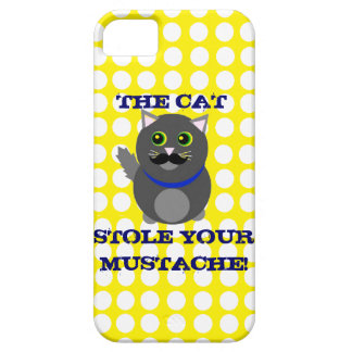 The cat stole your mustache! iPhone 5 cover