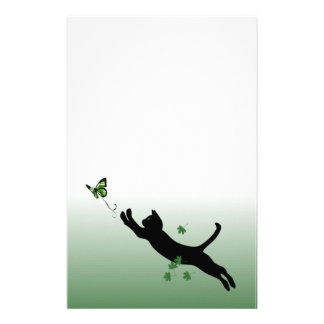 The Cat The Butterfly Customized Stationery