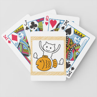 The cat which wants bicycle playing cards
