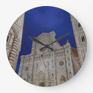 The Cathedral of Santa Maria del Fiore in italy Large Clock