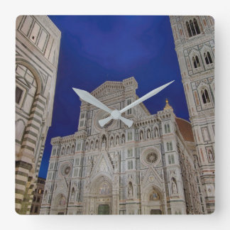 The Cathedral of Santa Maria del Fiore in italy Square Wall Clock