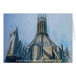 The Catholic Cathedral Liverpool Colin Carr-Nall Card