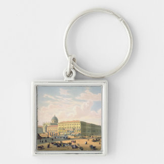 The Catholic Church and Mikhailovskaya Street Key Chain