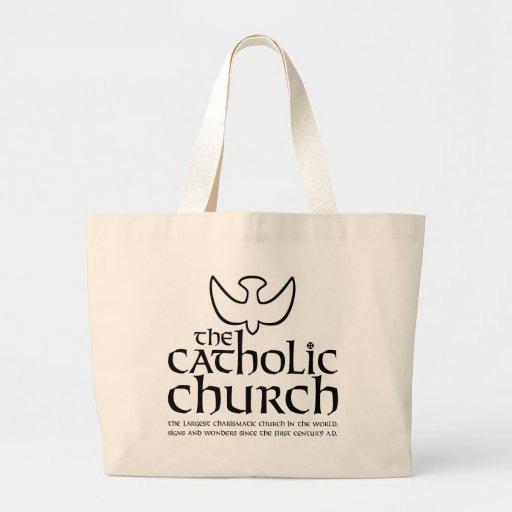The Catholic Church.  Charismatic church Canvas Bags