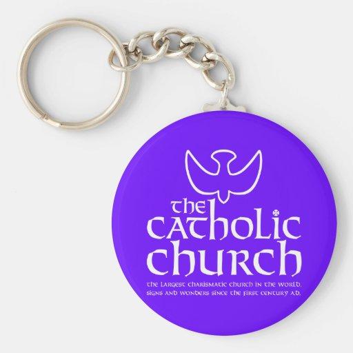 The Catholic Church. Largest Charismatic Church Keychain