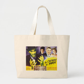 The Catman of Paris, Vintage Movie Horror to Large Tote Bag