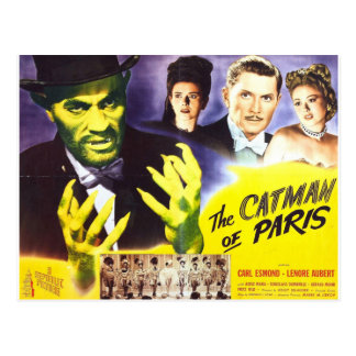 The Catman of Paris, Vintage Movie Horror to Postcard
