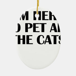 the cats ceramic oval decoration