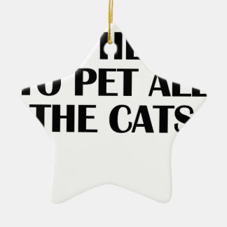 the cats ceramic star decoration