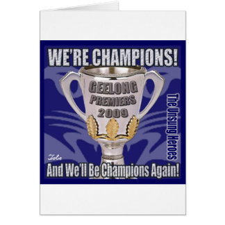 The Cats - Champions 2009 Greeting Cards