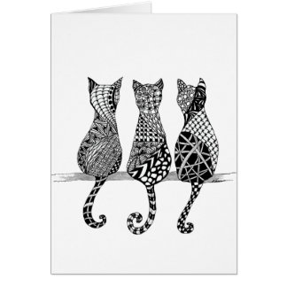 The Cat's Meow Blank Card
