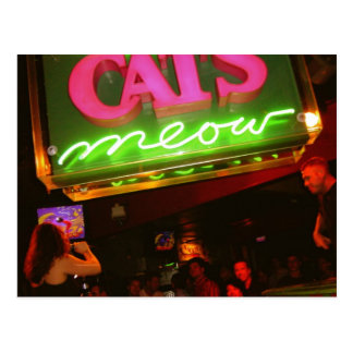 The Cat's Meow Nightclub in New Orleans Postcard