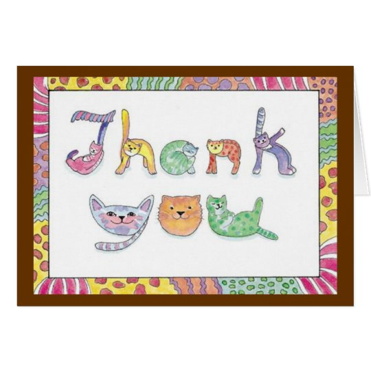 The cat's meow Thank You Card