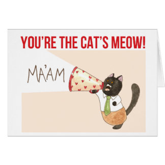 The Cat's Meow valentine Card