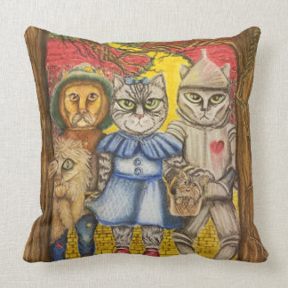The Cats of Oz Pillow
