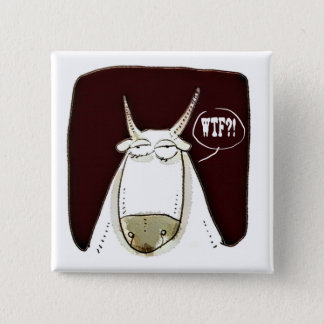 the cattle looking out meaningless funny cartoon 15 cm square badge
