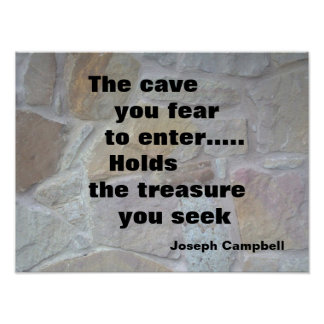 """""""THE CAVE MOTIVATIONAL POSTER"""" POSTER"""