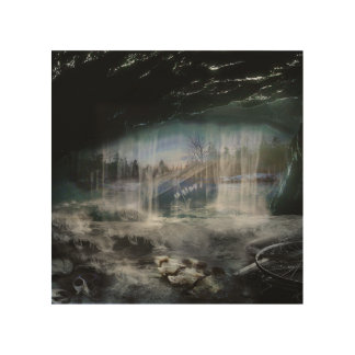 The cave wood wall art