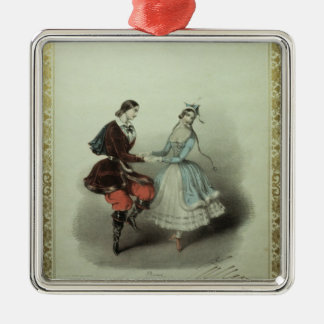 The Celebrated Polka, song sheet, 1840 Metal Ornament
