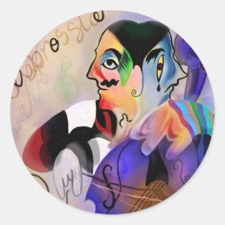 The Cellist Classic Round Sticker