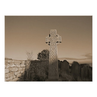 The Celtic Cross - Scotland Poster