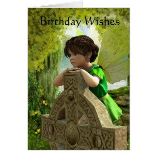 The Celtic Fairy Birthday Card